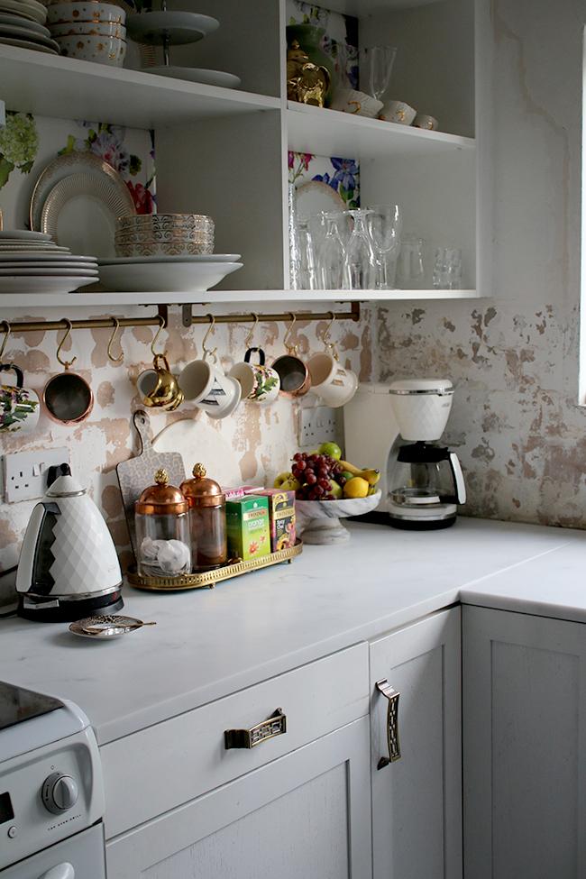 kitchen remodel with Mineva Cararra worktops