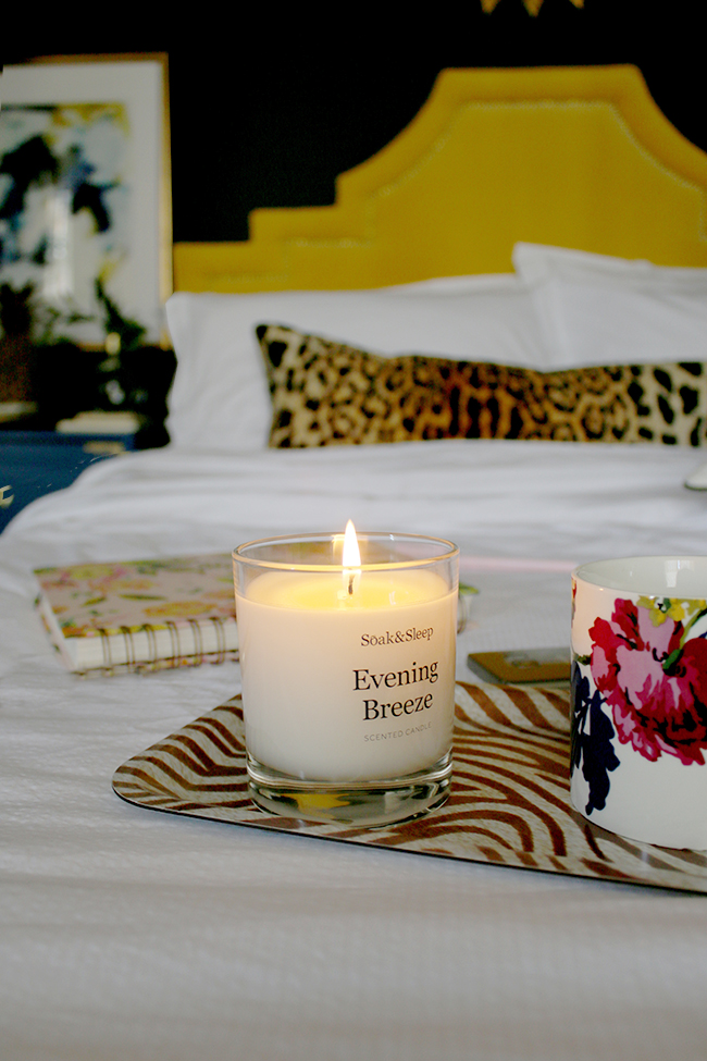 summer candle in bedroom