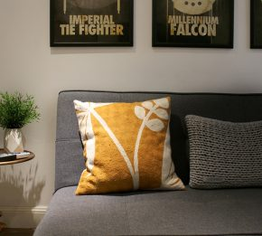 The man cave with star wars inspired prints