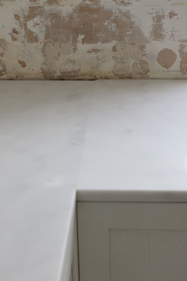 minerva carrara acrylic worktop join