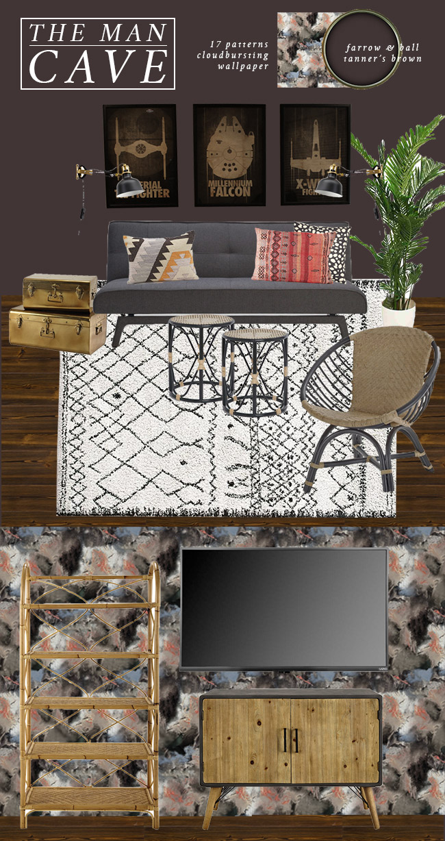 Swoon Worthy Man Cave Moodboard plans