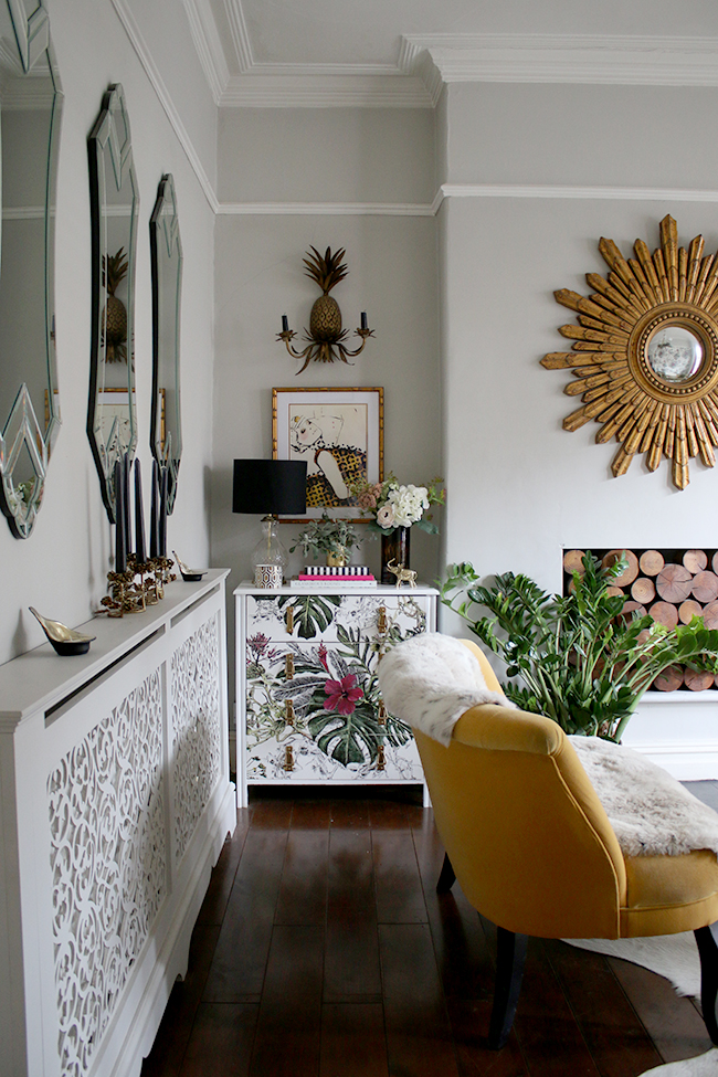 eclectic boho glam living room Swoon Worthy