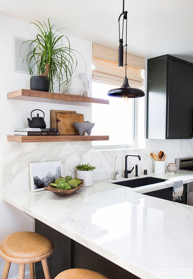 black-white-and-wood-kitchen-with-black-faucet