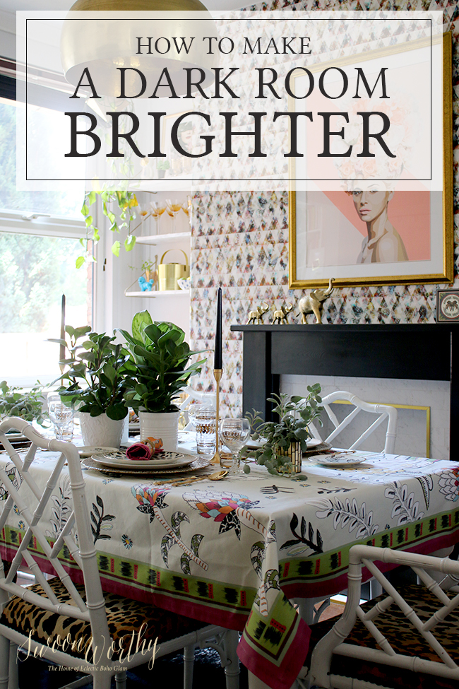 Is the lack of light within your home starting to get you down? Check out my 10 top tips on how to make a dark room brighter and lighter!