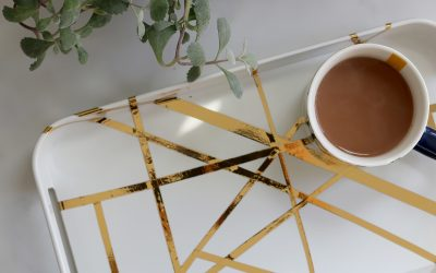 DIY Kelly Wearstler 'Channels' Inspired Gold Tray