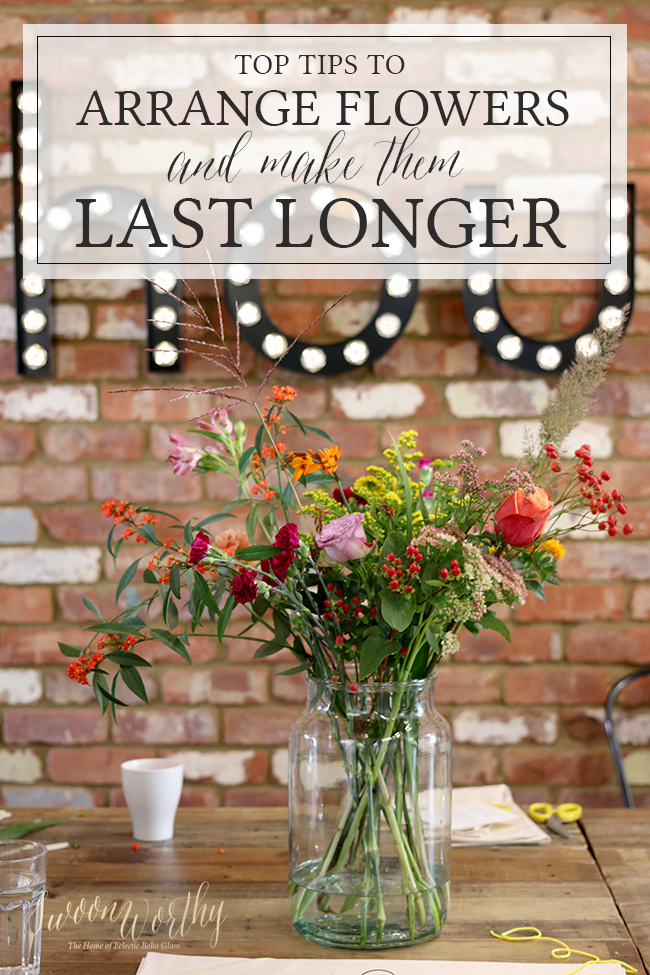 How to Arrange Flowers and Make Them Last Longer