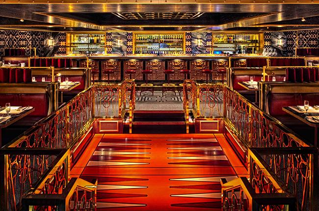 The Club Room in Bob Bob Ricard designed by David Collins / Paul Winch-Furness Photographer via Diespeker & Co.