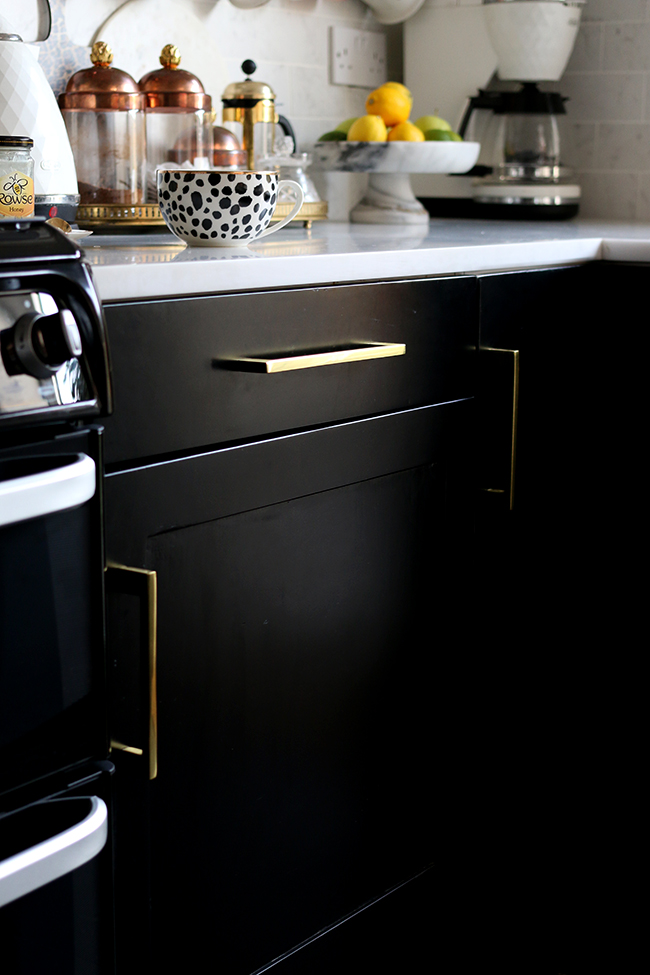 Painting our Kitchen Cupboards Black