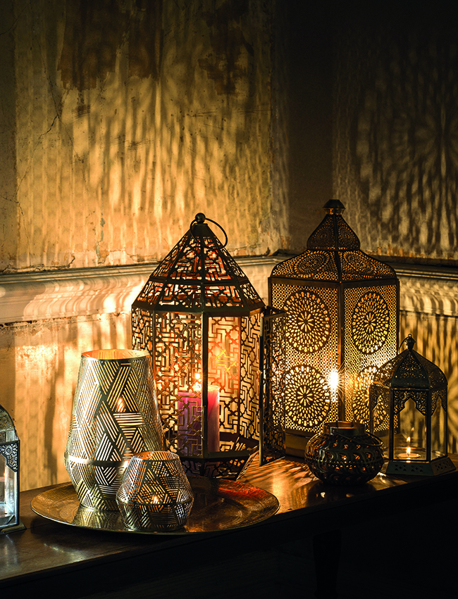 Marks and Spencer candle holders moroccan inspired