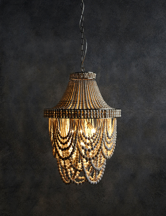 mila chandelier from Marks & Spencer boho inspired lighting