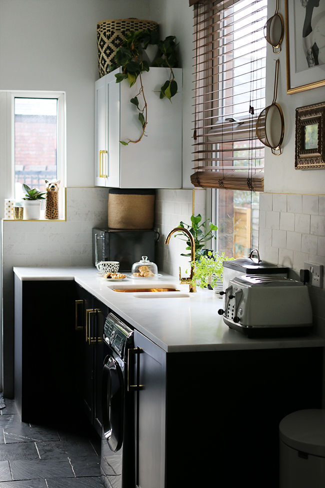 If you have a small kitchen and looking to maximise storage make sure you are using any dead space in high places!