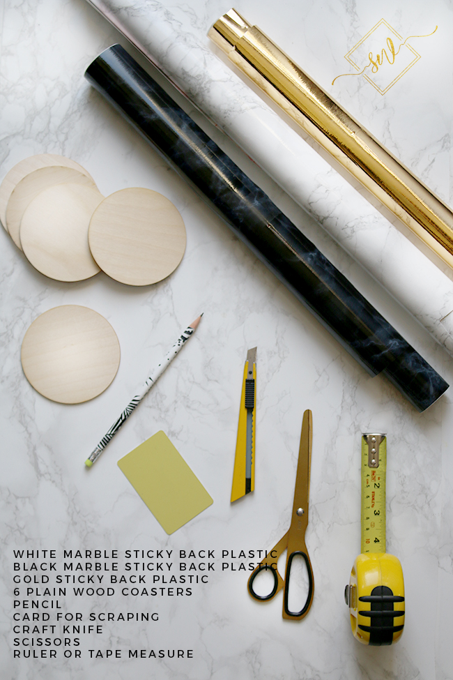 diy-marble-and-gold-coasters-materials