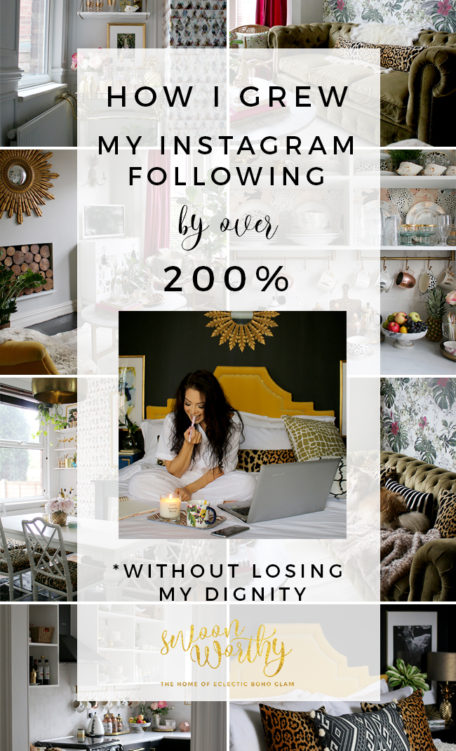 Want to find out how to grow your Instagram following WITHOUT loosing your dignity? Check out some of the things I've learned to up my Instagram game!