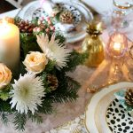How to Create a Floral and Pine Christmas Centrepiece