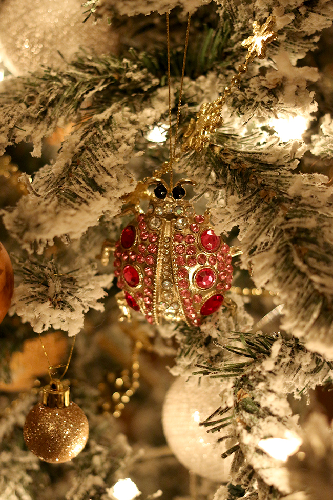 west elm diamonte beetle in christmas tree