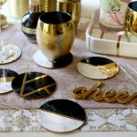 Glam Marble & Gold DIY Coasters