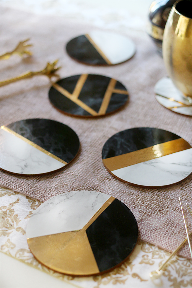 Glam Marble Amp Gold Diy Coasters Swoon Worthy