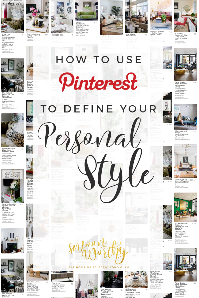 Looking for a way to figure out what you truly love for your home? Check out my tips on how to use Pinterest to define your personal style!