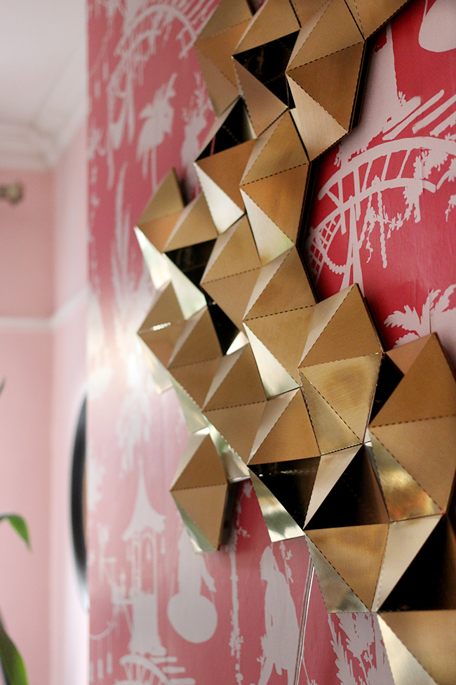 home office gold geometric wall light from habitat