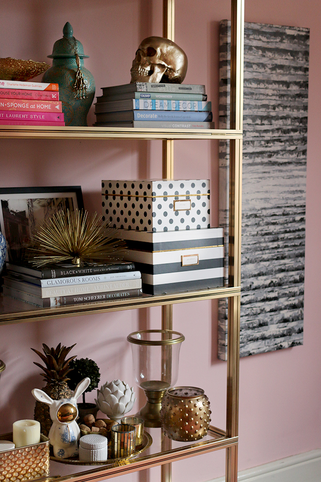 Pierre Vandel gold shelving unit