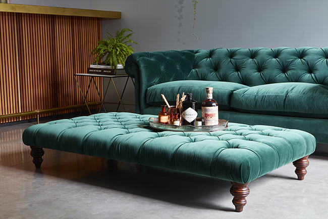 Delicieux Emerald Green Velvet Chesterfield Sofa From Darlings Of Chelsea