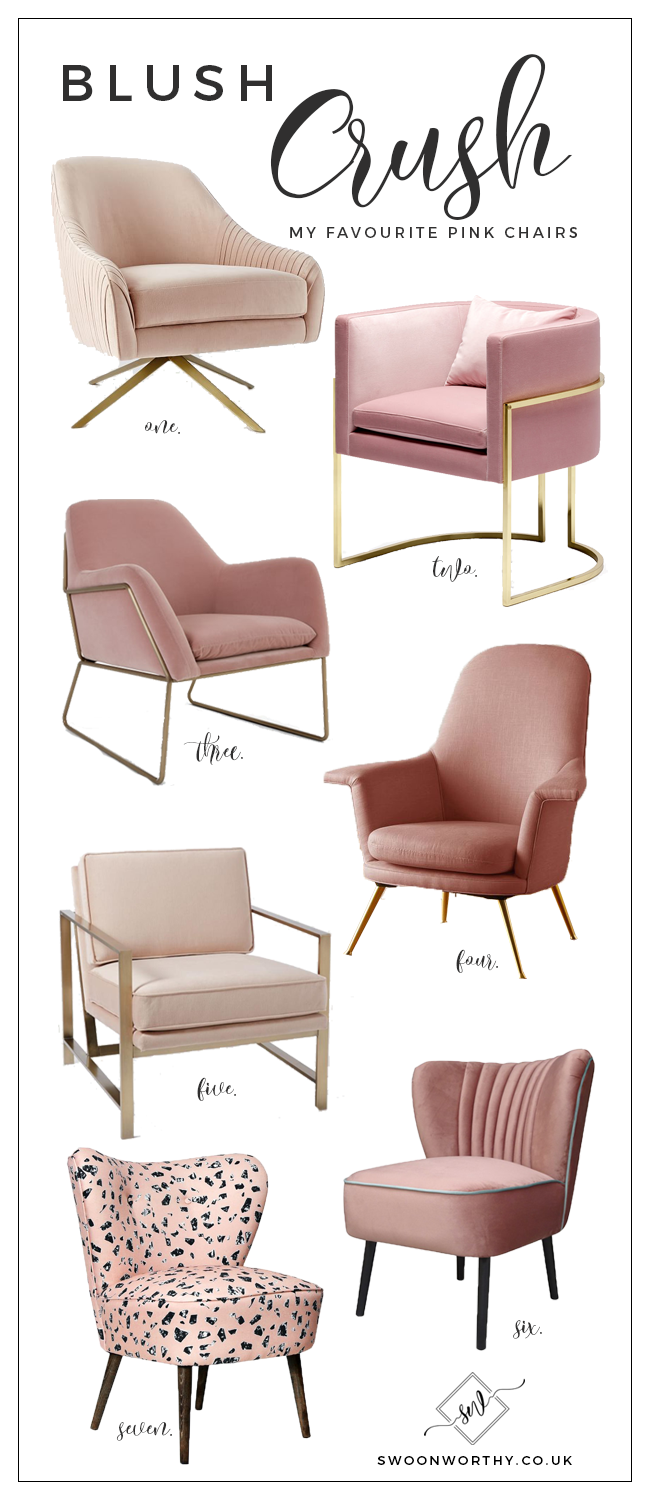 Blush Crush My Favourite Blush Pink Chairs Swoon Worthy