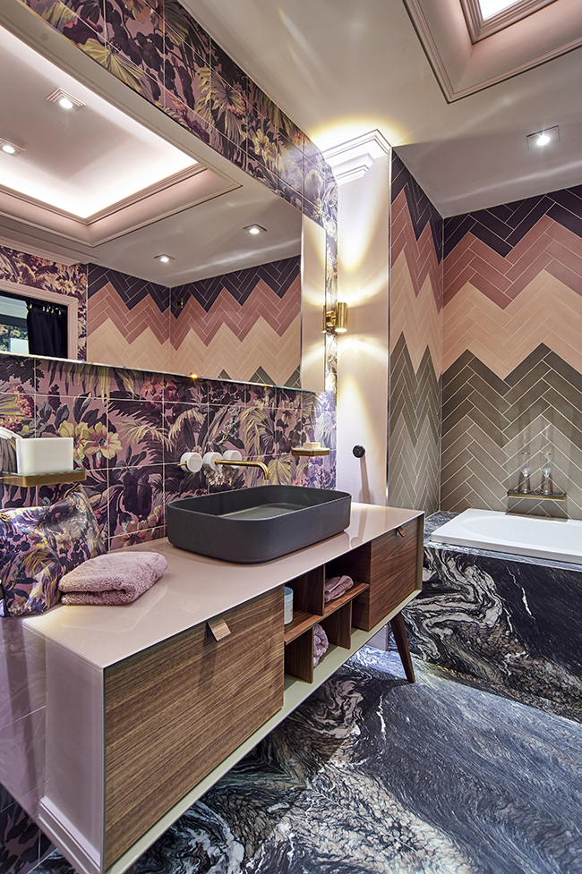 C.P. Hart and House of Hackney bold boho bathroom