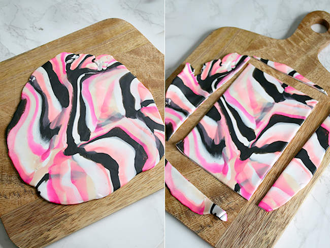 DIY Marble Effect Trinket Dishes from Oven Baked Clay step 8 and 9