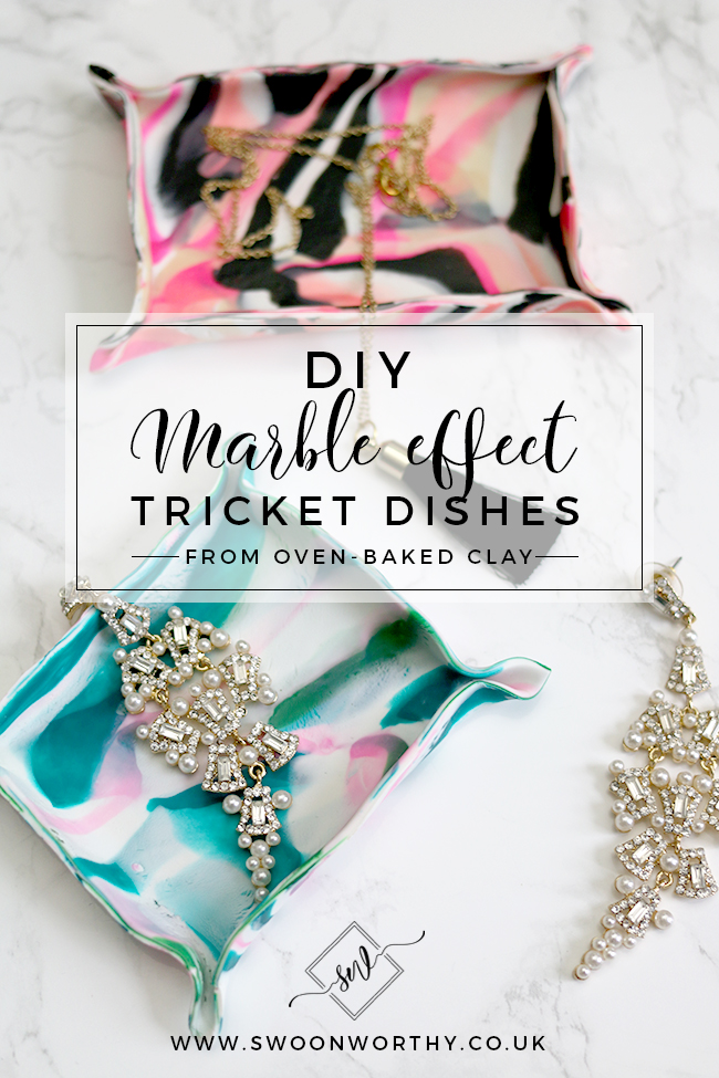 DIY Marble Effect Trinket Dishes from Oven Baked Clay