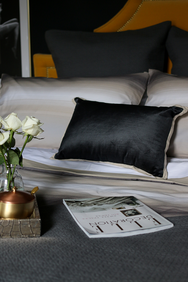 hotel luxe style bedroom design