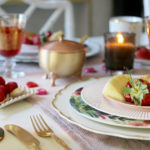 Valentine's Day Romantic Table Setting for Two