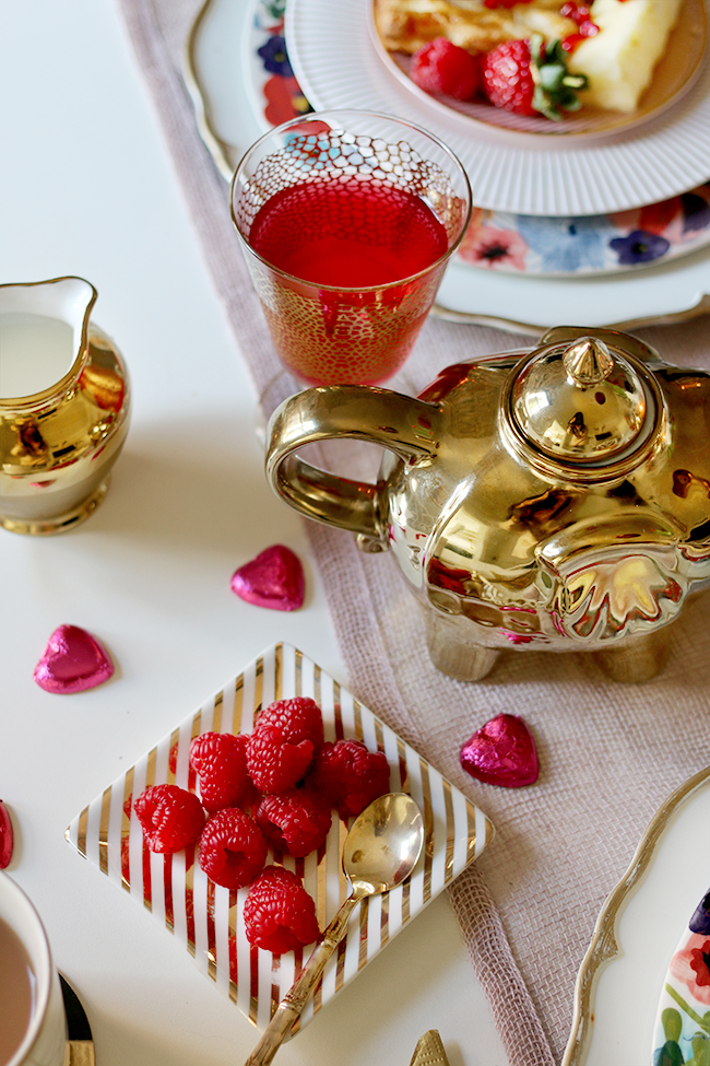 Avoid any cheesiness and create a Valentine's Day table setting for your loved one
