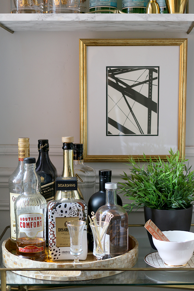 bar cart artwork