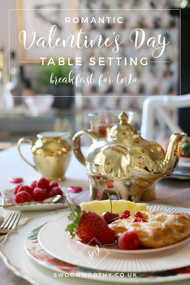 Want to avoid those tacky Valentine's Day cliches but still do something special? Here's how to create a romantic Valentine's Day table setting with breakfast for two.