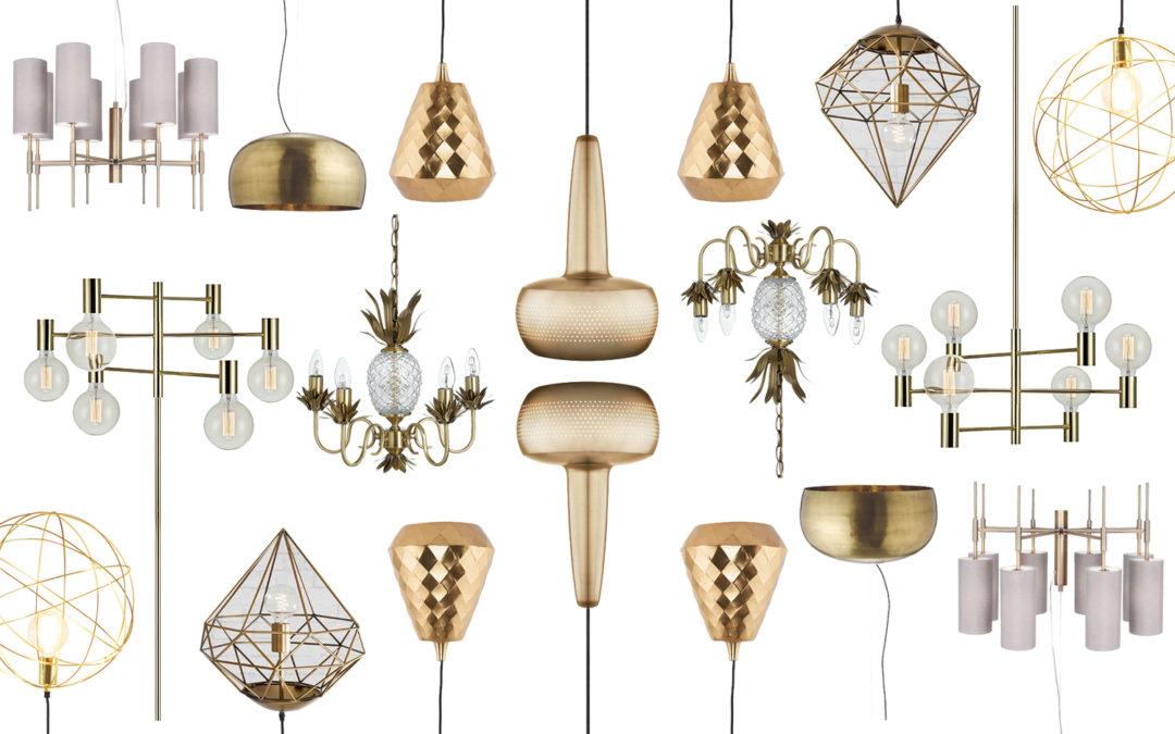 Affordable Lighting: Gold & Brass Ceiling Lights for Under £200