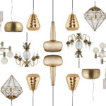 Affordable Lighting: Gold & Brass Ceiling Lights for Under £200