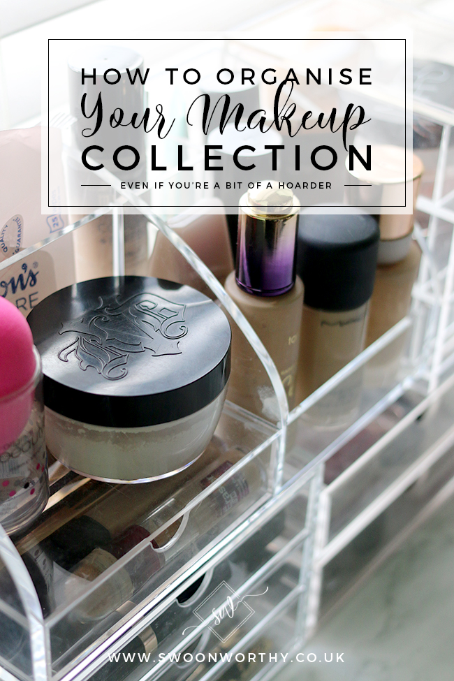 Confession time: I'm a bit of a makeup addict! Find out how I organise my makeup collection and the products I use to organise it all!