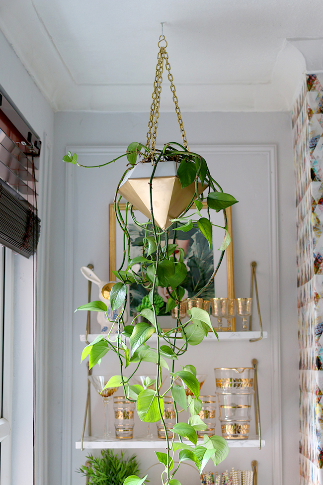 How to Style with Plants - hanging planters