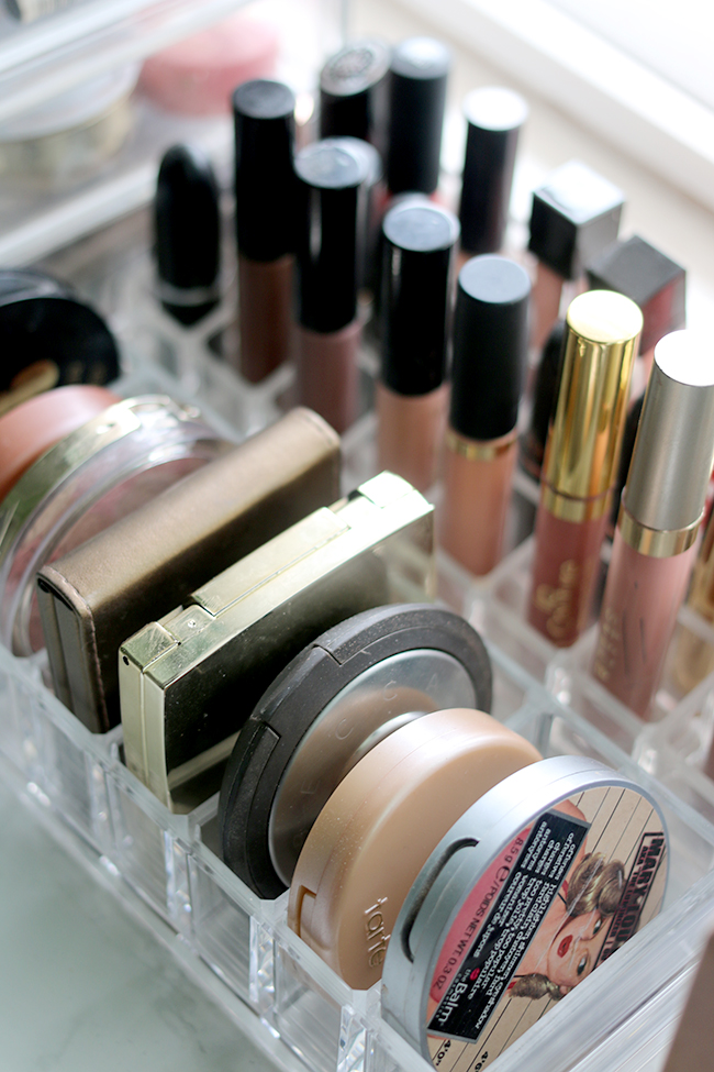 how to organise your makeup cheaply and easily