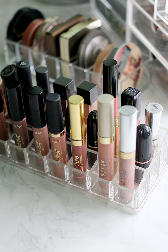 My makeup collection includes a lot of lip products, take a look at how I organise them all.