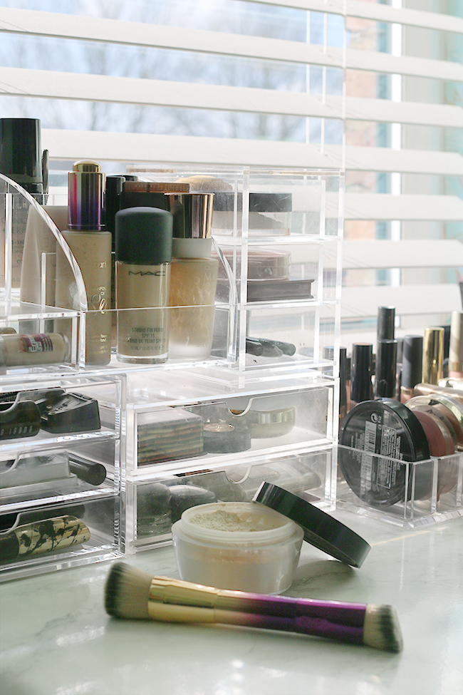 Organising tips for makeup collections