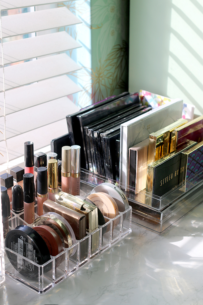 how to organise and store your makeup collection