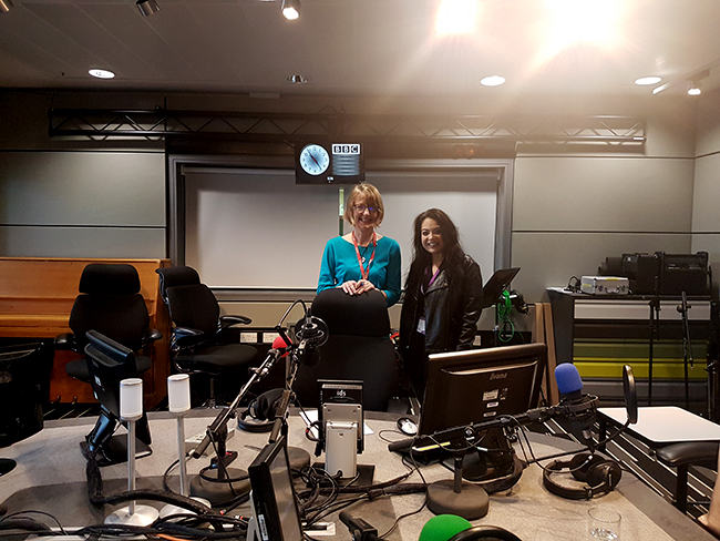 BBC Radio4 Presenter Melanie Abbott and I at the studio!