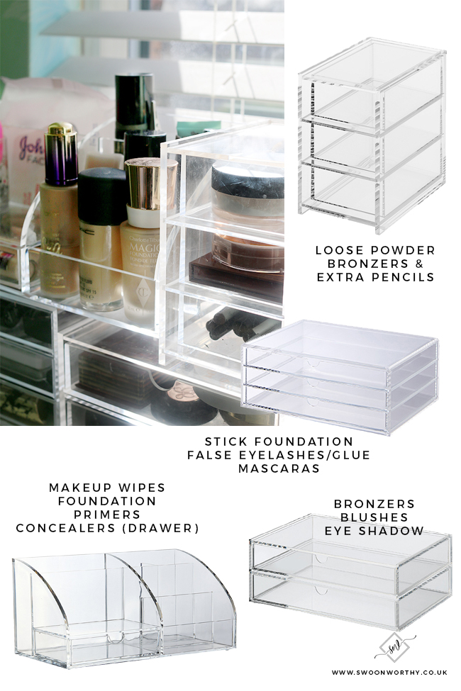 how to organise your makeup collection easily and affordably