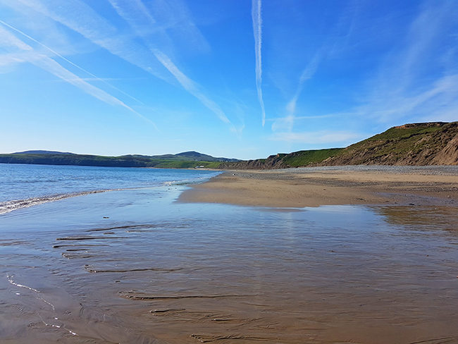 Aberdaron Wales beach