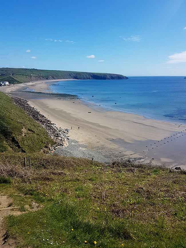 Aberdaron Wales beach from above