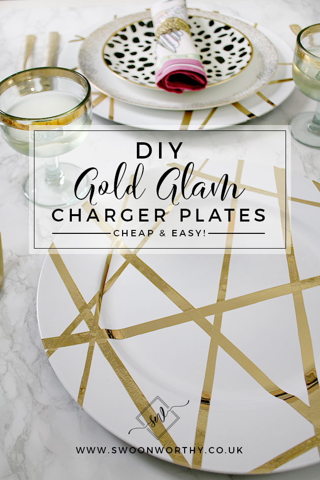 Looking to add a touch of glam to your dining table? This super easy DIY charger plates tutorial only takes 20 minutes to do and only costs a small amount but looks a million bucks on your table!