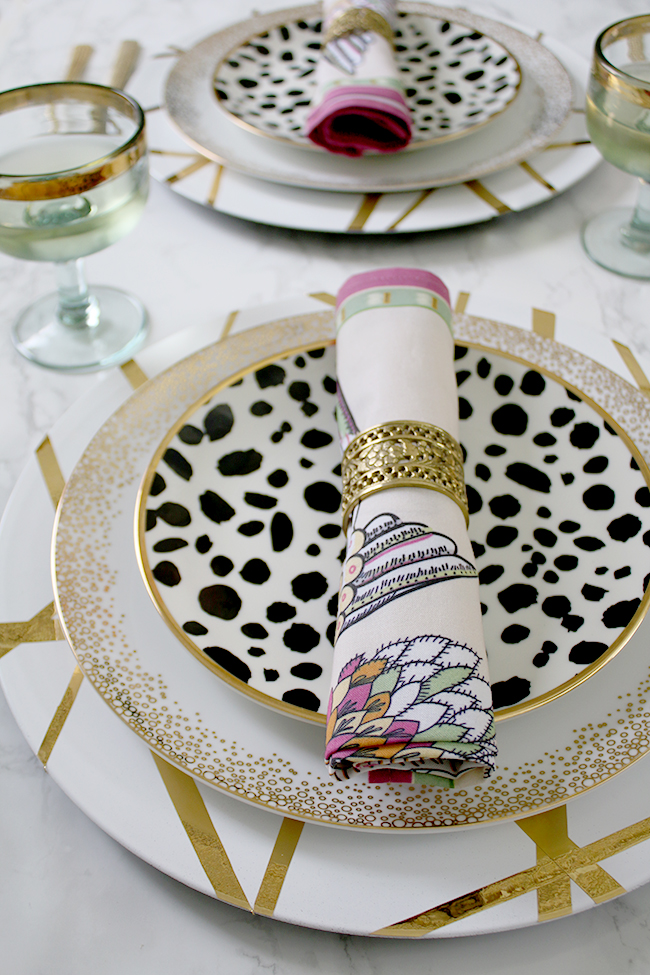 Hosting a dinner party? My DIY charger plates are perfect for adding a touch of glam to your place settings