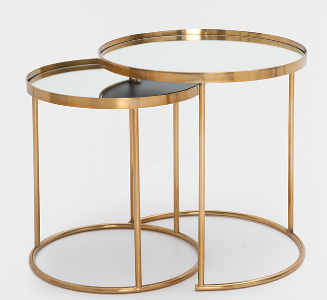 zara home gold nest of tables
