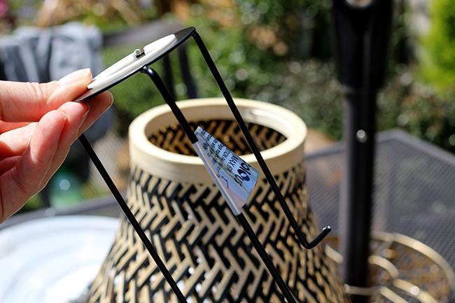 DIY Boho Inspired Bamboo Solar Light Step 3